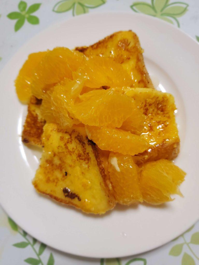 大人のフレンチトースト(オレンジキュラソー)
