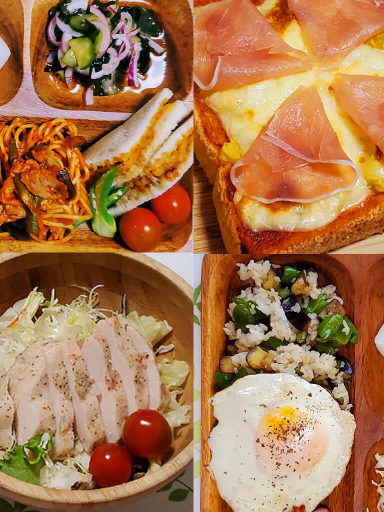 木製食器でカフェランチ
