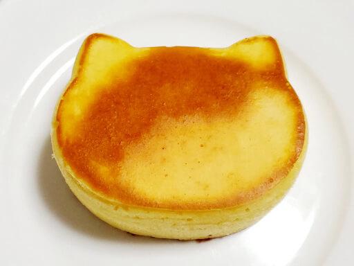 商品レビュー。100均セリアのかんたん厚めのパンケーキモールド(ねこ型)を使ってみた。表面7分